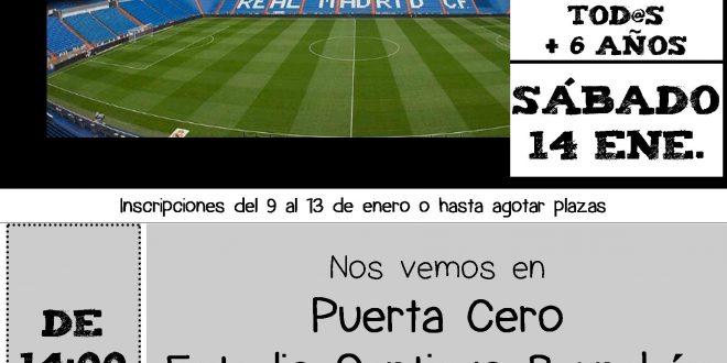 Sábado de Ocio para tod@s. Comida y Tour del Bernabéu