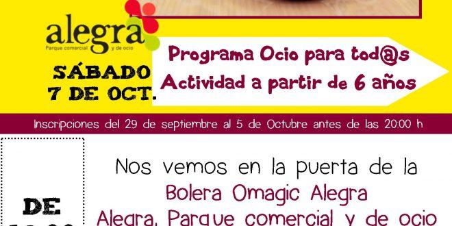 Sábado 7 de octubre, Ocio para tod@s ¡Merienda y Bolera!