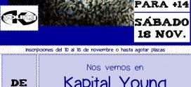 Kapital Young, discoteca +14 para el sábado 18