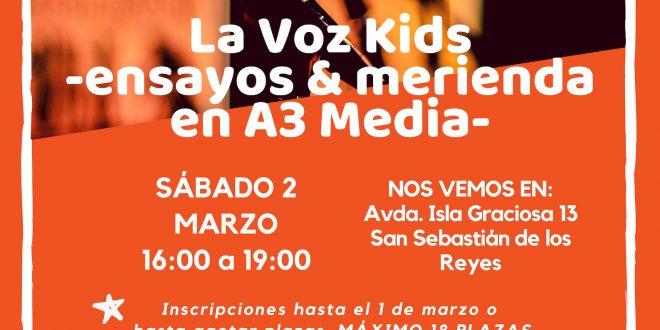 Ocio para tod@s: nos vamos a los ensayos de La Voz Kids