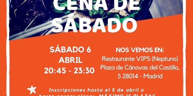 Sábado 6 de abril: nos vamos de Cena